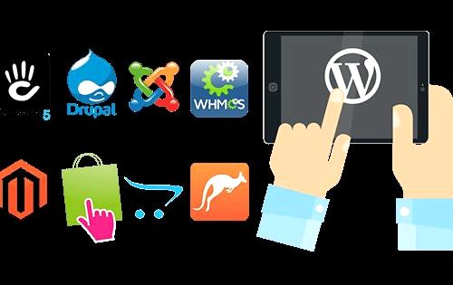 Web hosting one-click wordpress installation