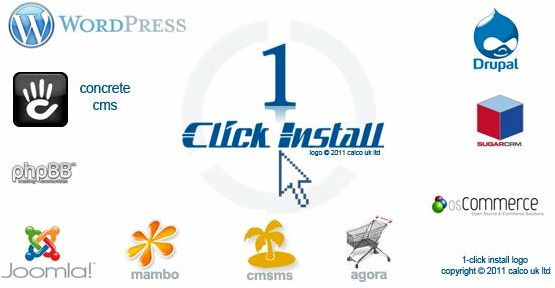1 clic installation d'hébergement wordpress