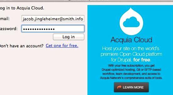 Acquia drupal hosting laman