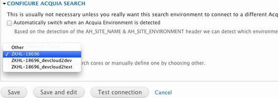 Acquia खोज मॉड्यूल Drupal होस्टिंग