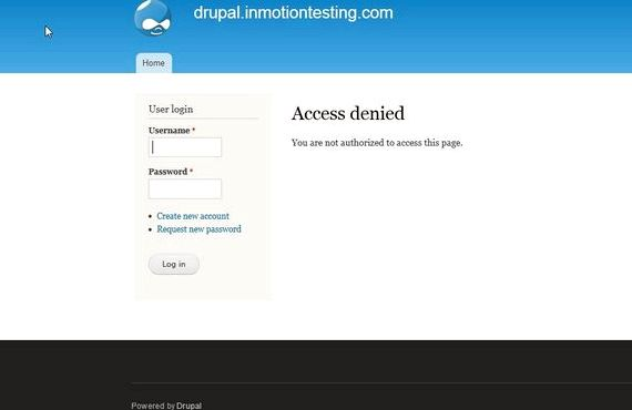 Administrator log in drupal hosting