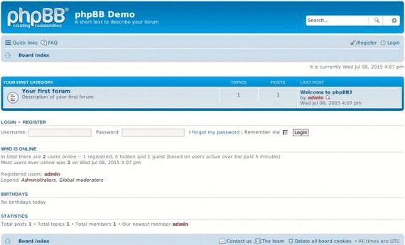 Ajax kalendarz phpBB 3 forum hosting