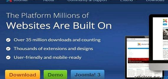 Artisteer mobile Website joomla Hosting