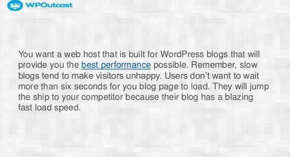 最佳托管公司为WordPress博客的博客