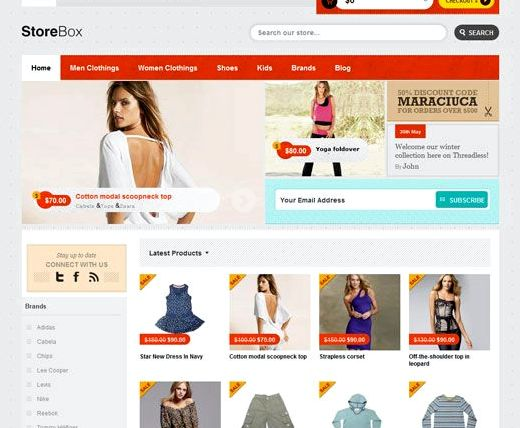 hosting terbaik wordpress template e-dagang
