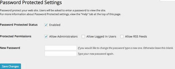Zmiana hasła wiadomość chroniony strona wordpress hosting