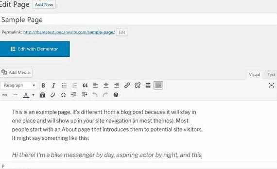 Değişim örnek sayfa barındırma wordpress