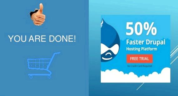 Create webshop with drupal hosting