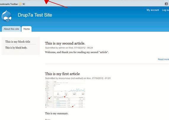 depan Custom halaman drupal hosting