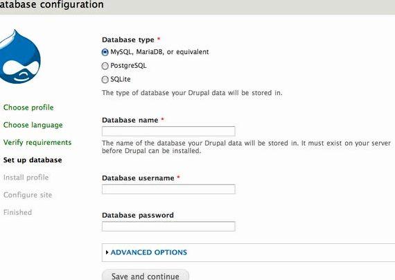 Pangkalan data maklumat drupal hosting