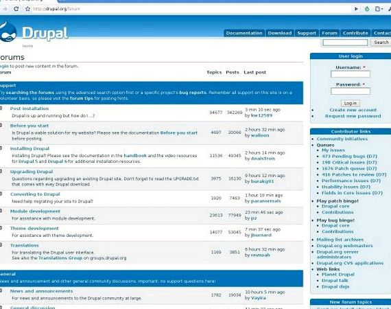 Drupal forum maju vs Phpbb hosting