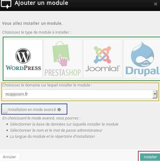 módulo de hospedagem web Drupal