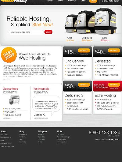 Drupal web template hosting