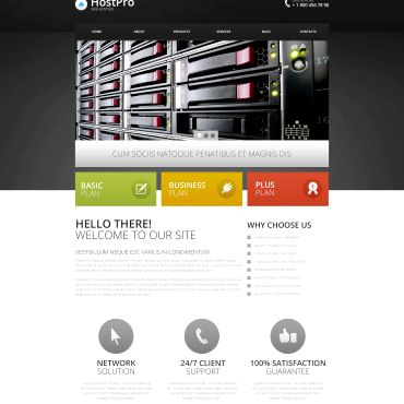 드루팔 웹 호스팅 템플릿