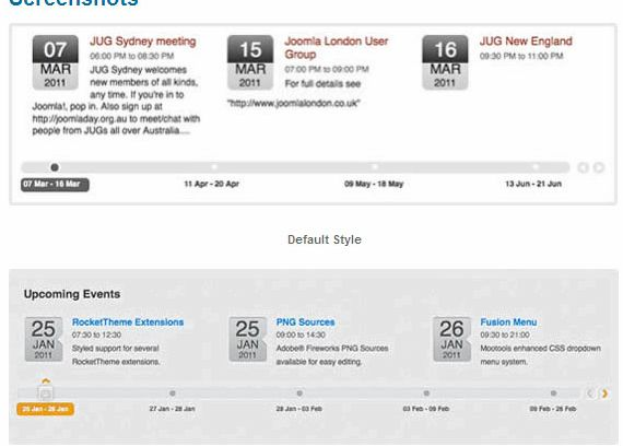 Event-Kalender-Widget joomla Hosting
