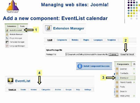 जूमला होस्टिंग के लिए Eventlist कैलेंडर मॉड्यूल