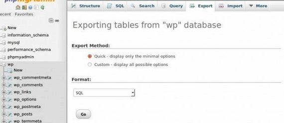 Exporter des pages sélectionnées une fois que l'hébergement WORDPRESS