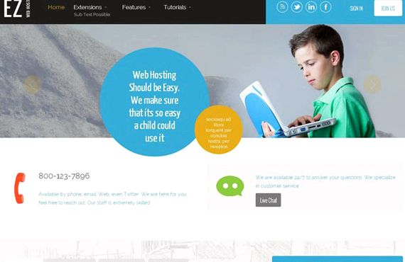 Ez Web-Hosting Joomla Template