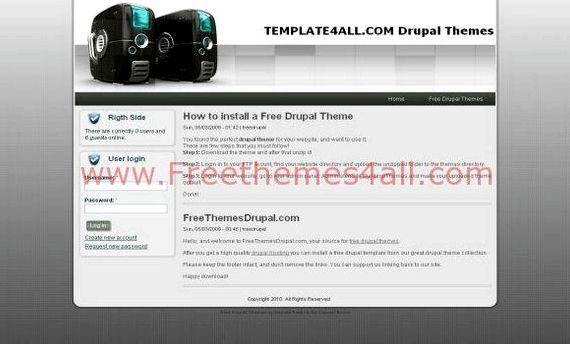 Percuma drupal web hosting template