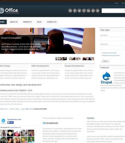 Percuma drupal web hosting tema