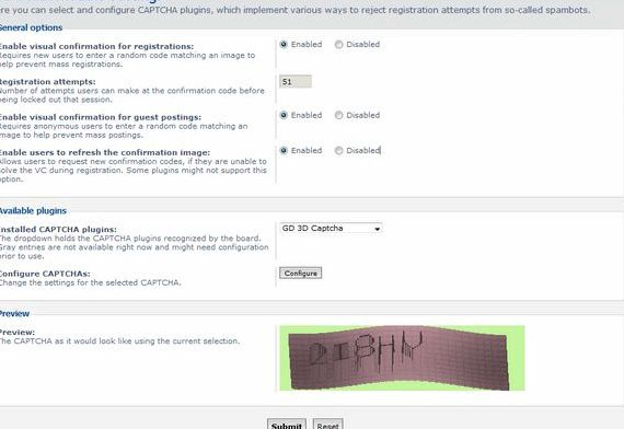 forum hosting percuma Phpbb 3 captcha
