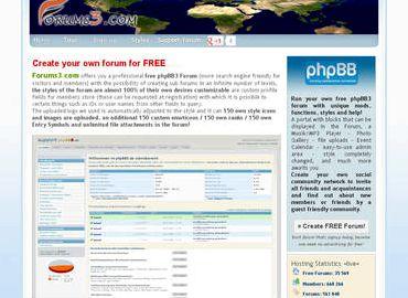 Free forum hosting Phpbb 3 forum