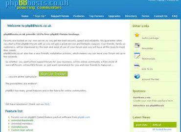 Free forum hosting phpbb 3