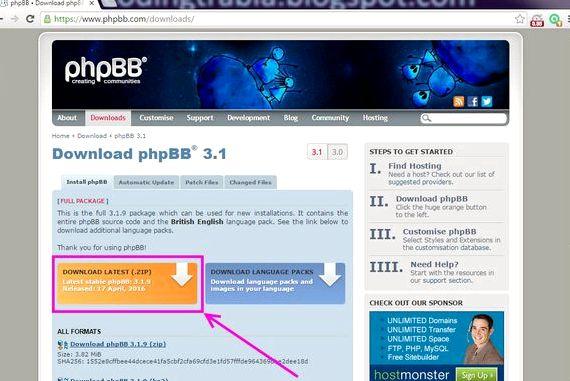 Darmowy hosting forum phpbb pobrania