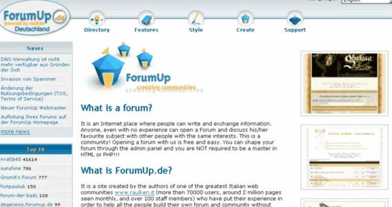 forum hosting percuma vBulletin hosting