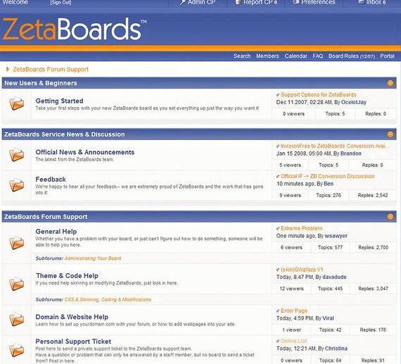 Darmowe oprogramowanie forum vBulletin hosting