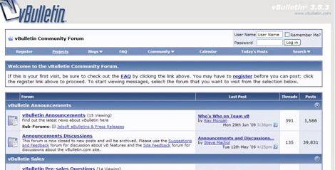forum hosting percuma muat vBulletin