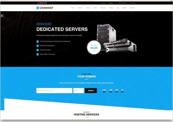 Hospedagem gratuita wordpress template