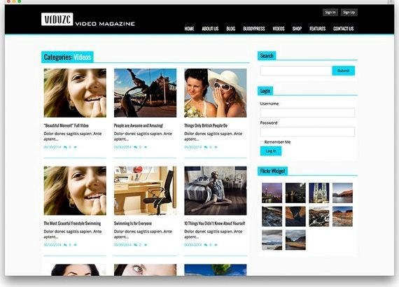 Free Hosting-Website-Templates für Wordpress Film