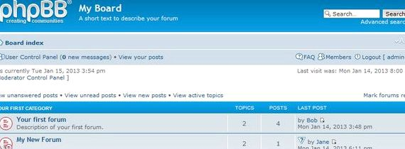 phpBB و رایگان 3 انجمن میزبانی ابزار