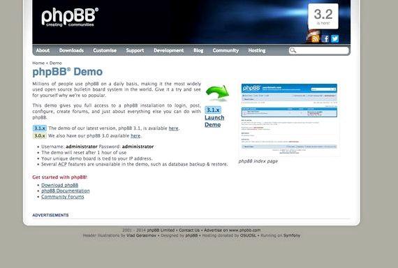 phpBB و رایگان انجمن 3 میزبانی وب سایت