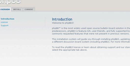 phpBB و رایگان 3 میزبانی وب سایت را انتخاب کنید سپس