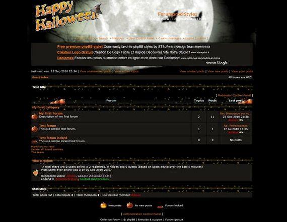 phpBB و میزبانی رایگان اسکریپت برای هالووین