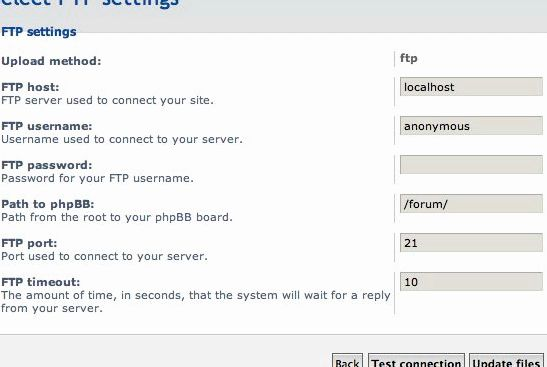 Free phpbb hosting with ftp