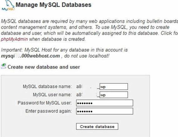 hébergement web gratuit php mysql mot de passe wordpress vos documents de vie