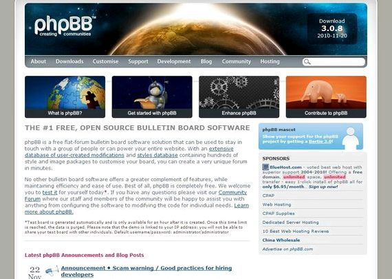 Free web hosting de download phpbb
