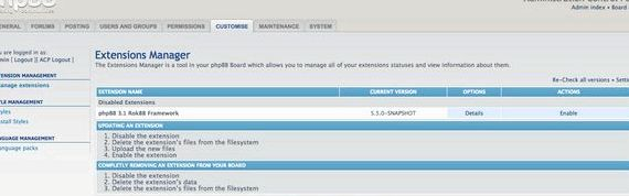 नि: शुल्क वेब होस्टिंग phpBB एक्सटेंशन