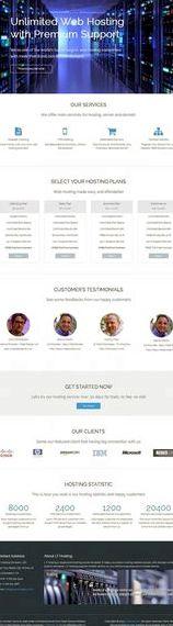 Percuma web hosting template joomla