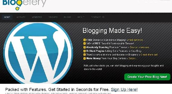 Free wordpress hosting domain mapping with blogger