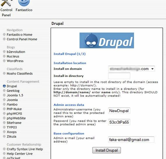 Geeklog vs drupal hosting