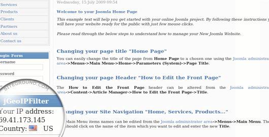 GeoIP php विस्तार Drupal होस्टिंग