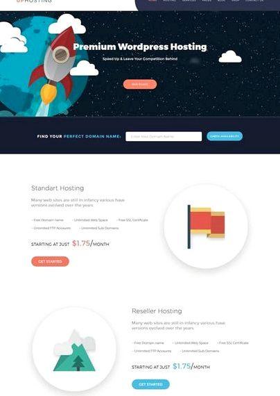 مطلع نوع صفحه وردپرس میزبانی وب