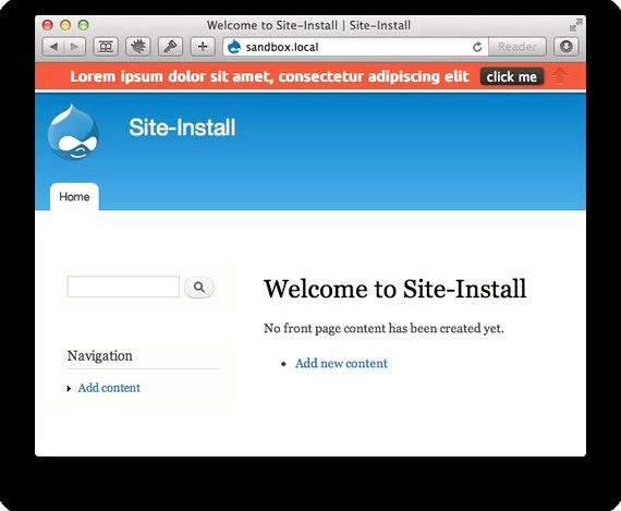 Hello bar drupal hosting