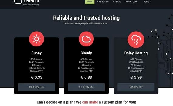Hosting company joomla template download