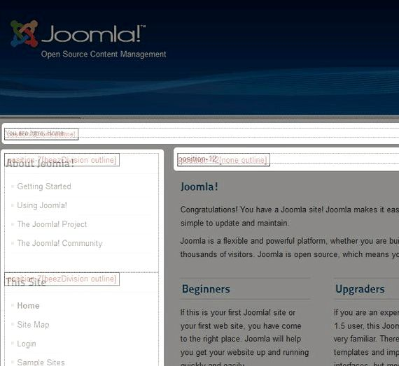 Hosting company joomla template positions