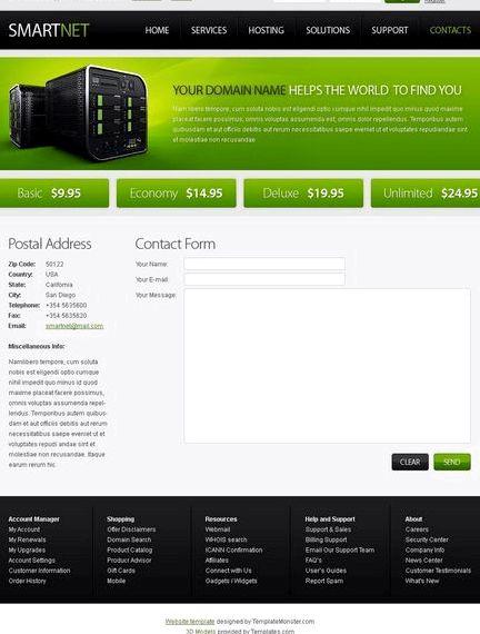 Hosting website template joomla kế hoạch miễn phí cuộc di cư
